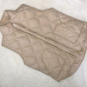 J crew tan cream vest size small